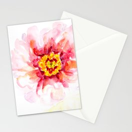 Peony Sherbet Painting Stationery Cards