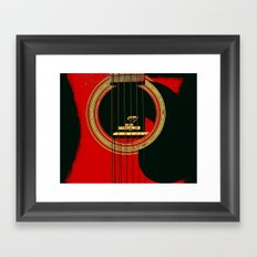Guitar Sound Hole Framed Art Print