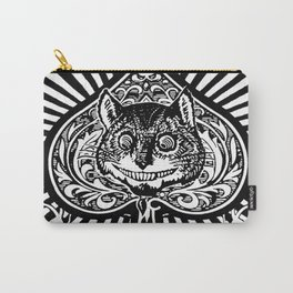 Cheshire Cat Black and White Carry-All Pouch