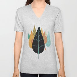 Fair Forest- Retro Orange Palette Unisex V-Neck