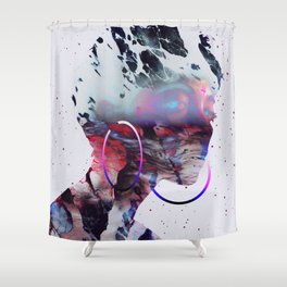 Le regard de Dieu Shower Curtain
