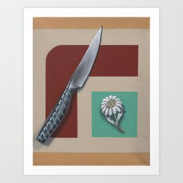 A Knife and a Flower Art Print