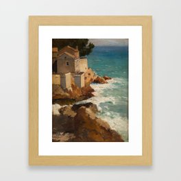 ALEKSEI VASILIEVICH HANZEN (RUSSIAN 1876-1937) House on the Dalmatian Coast Framed Art Print
