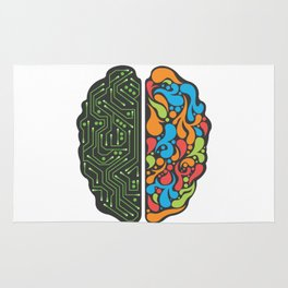 My brain is different Rug