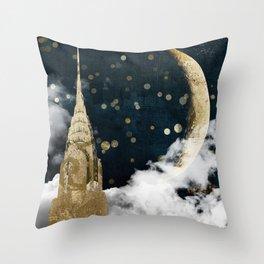 Cloud Cities New York Throw Pillow