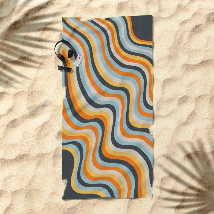 Dancing Lines Beach Towel