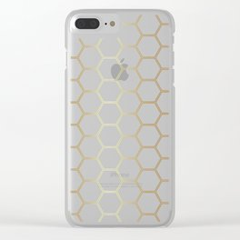 Honeycomb Gold #170 Clear iPhone Case