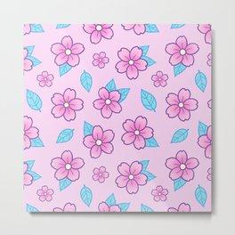 Sakura // Pink Metal Print