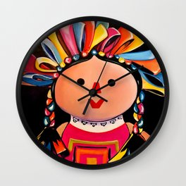 MEXICAN MARIA DOLL*** Wall Clock
