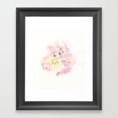 the night and her treasure Framed Art Print