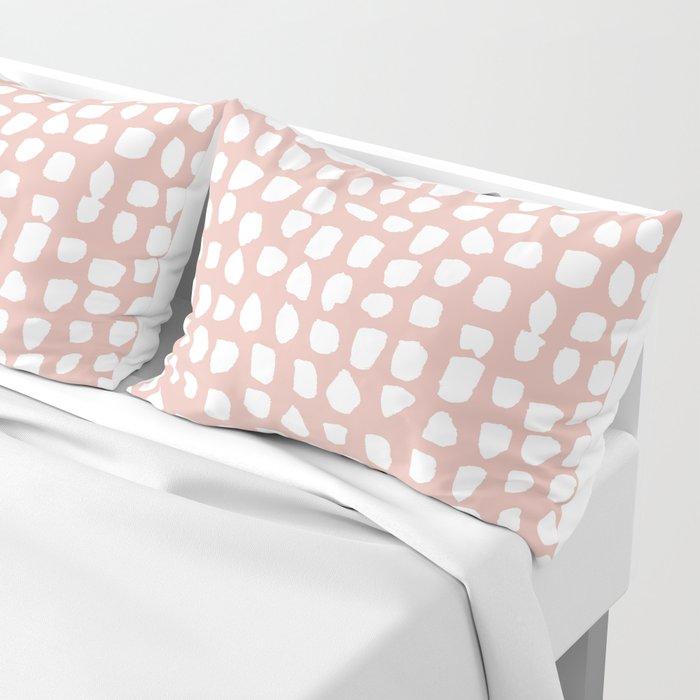 Dots / Pink Pillow Sham