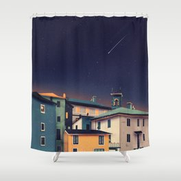Castles at Night Shower Curtain