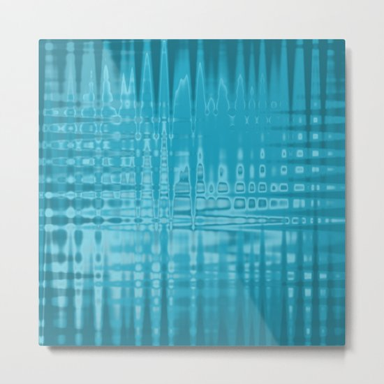 ABSTRACT MADNESS IN BLUE Metal Print