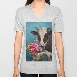 Happy Cow 01 Unisex V-Neck