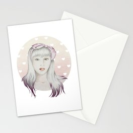 Girl Pink Stationery Cards