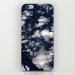 Navy Blue Pine Tree Shadows on Cement iPhone Skin