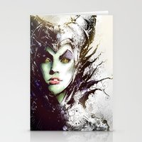 maleficent Stationery Cards featuring Maleficent by Vincent Vernacatola