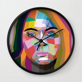 Cara Delevingne - wpap art Wall Clock