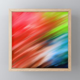 Abstract pink teal navy blue watercolor brushstrokes Framed Mini Art Print