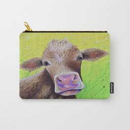 Jersey Cow Painting Carry-All Pouch