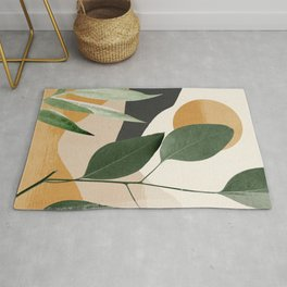 Abstract Art Tropical Leaves 8 Rug