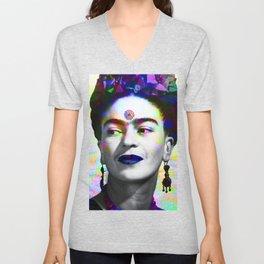 Frida Kahlo iridescence Unisex V-Neck
