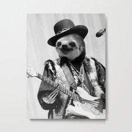 Rockstar Sloth #2 Metal Print