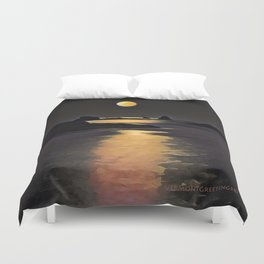 Blood Moon Reflection Duvet Cover