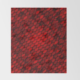 Red Dragon Scales Throw Blanket
