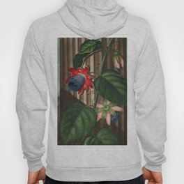 Winged Passion Flowers : Temple of Flora Hoody