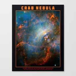 Beating Heart of the Crab Nebula Canvas Print