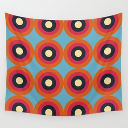 Lanai 16 - Colorful Classic Abstract Minimal Retro 70s Style Graphic Design Wall Tapestry