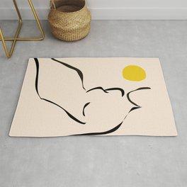 abstract minimal nude Rug