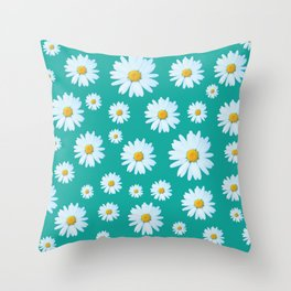 Dozens of Daisies Throw Pillow