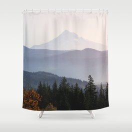 Mount Hood over the Columbia River Gorge Shower Curtain