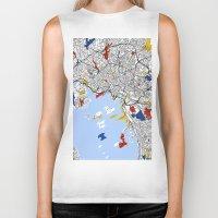oslo Biker Tanks featuring Oslo by Mondrian Maps