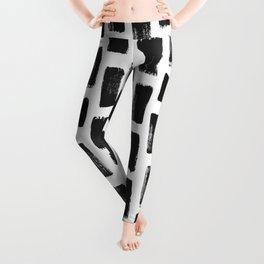 Paint Stroke Pattern Leggings