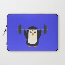 Penguin Weightlifting Laptop Sleeve