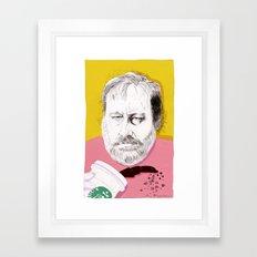 """Žižek just spilled Starbucks coffee all over himself""  Framed Art Print"