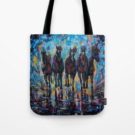 Roaming Free by OLenaArt/ Lena Owens Tote Bag