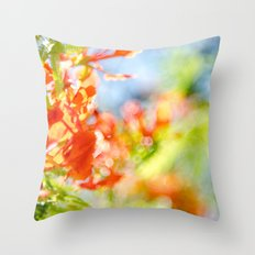 Mighty Sunny Abstract Throw Pillow
