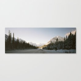 Roadtripping in the Canadian Rockies Canvas Print