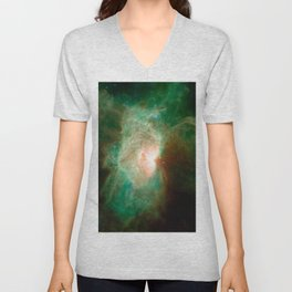 the horse becomes the phoenix | space #04 Unisex V-Neck