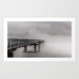 Ghostly bridge Art Print