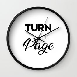 Turn the page Wall Clock