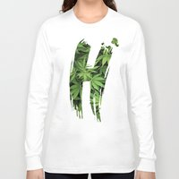 marijuana Long Sleeve T-shirts featuring Marijuana H by Spyck