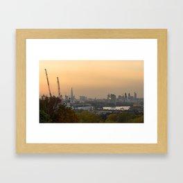 Sunset over London Framed Art Print