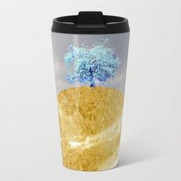 landscape 005: blue blossom tree on marble hill Travel Mug