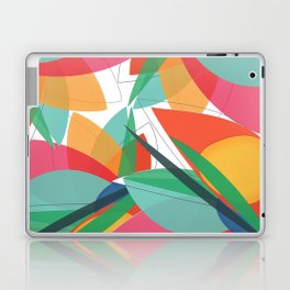Abstract multicolored tropical flower, bird of paradise, superimposed shapes and transparencies Laptop & iPad Skin
