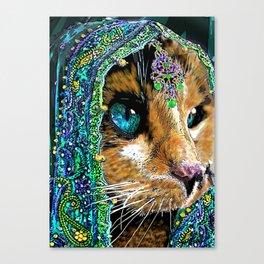 Calico Indian Bride - Cats Feline Catitude Canvas Print